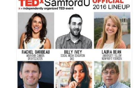 TEDxSamfordU 2016 Line-Up