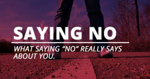 Learn to say no and set boundaries