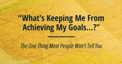 Why you aren't achieving your goals - it all comes down to self awareness