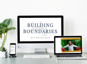 Building Badass Boundaries - mockup of digital workbook about boundaries