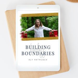 Building Badass Boundaries guide + worksheets on your ipad